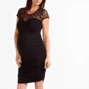 Stork & Babe Thyme Maternity Dress with Polkadots